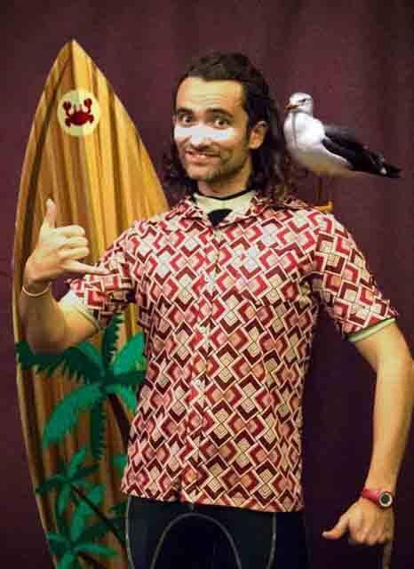 Clown surfista Yeyo Guerrero