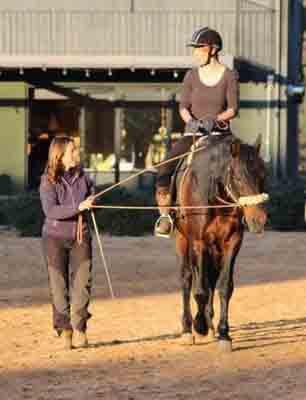 Postura sobre el caballo