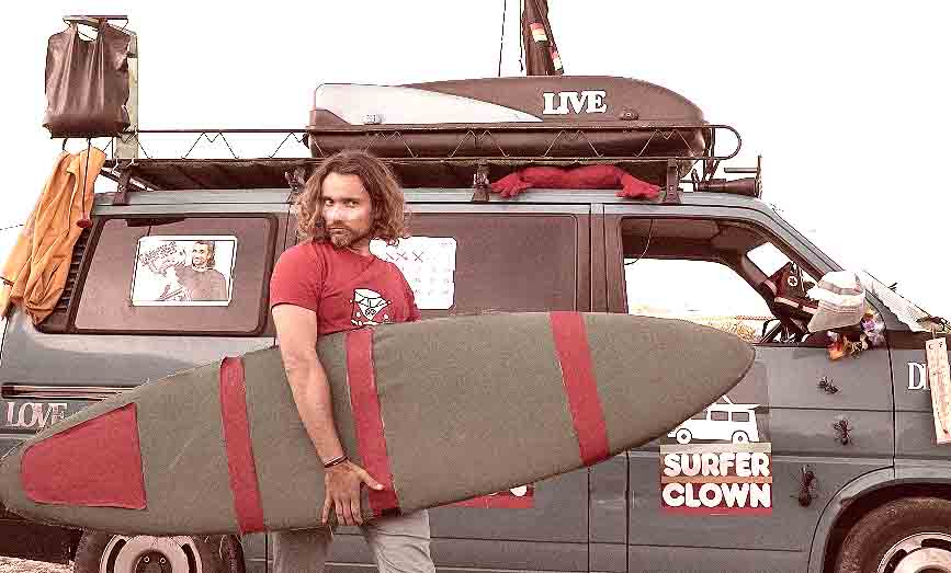 SURF + HUMOR = SURFER CLOWN