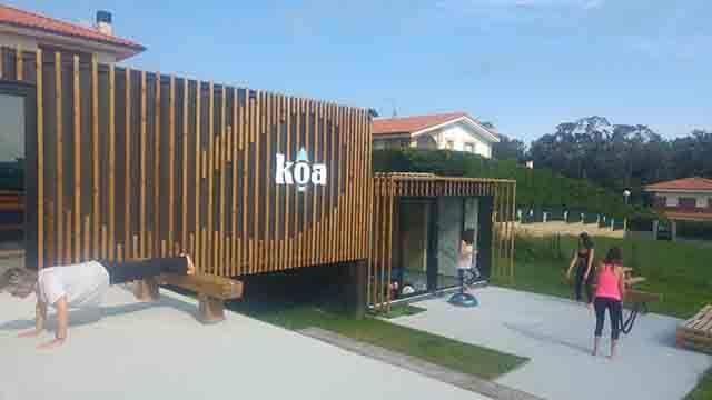 Instalaciones escuela de surf KOA