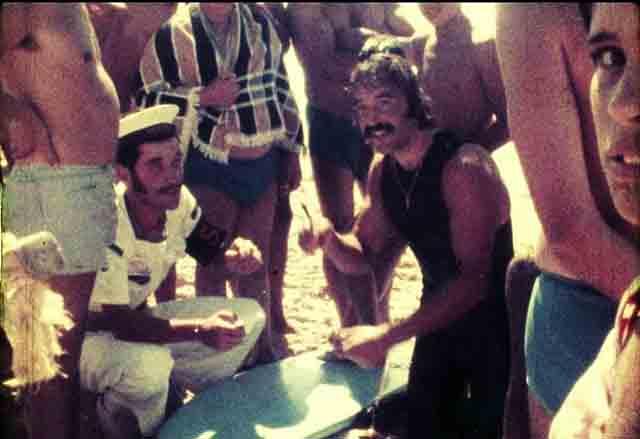 Meco en playa de Carcavelos Portugal 1973
