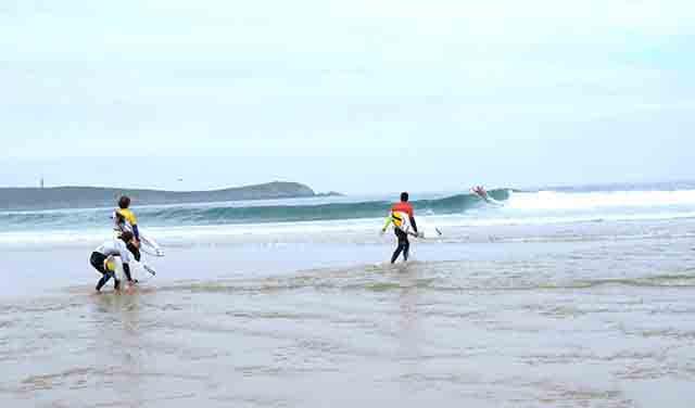 Lesiones en chicos surfistas