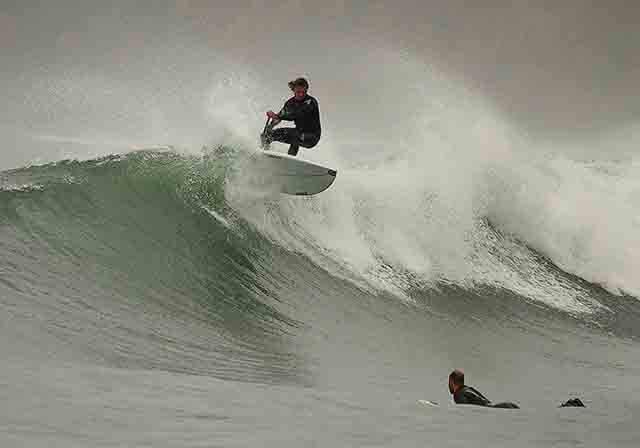 Tino comenzo a surfear a los 14