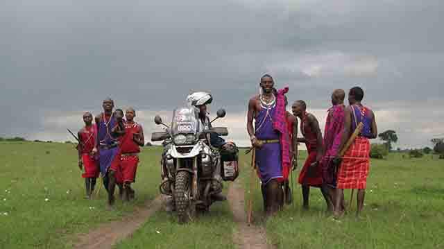 Miquel Silvestre su moto y Africa