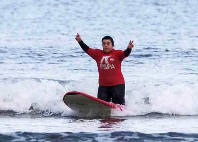 El sindrome de down apoyado por Surf Solidario