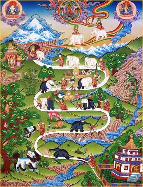 las 9 etapas del desarrollo mental budista